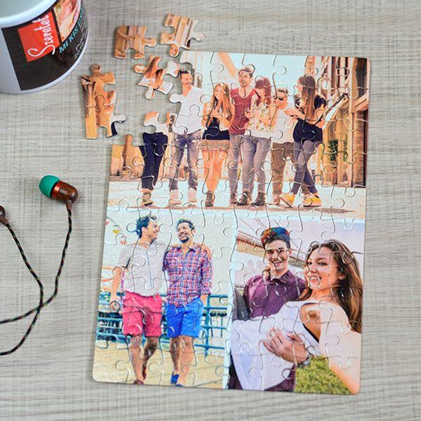 Egyedi fényképes kirakó 3 képpel, ahol még nagyobb jelentőséget kapnak a részletek, ugyan is a játék során 3 különböző kép részleteit kell megkeresni és összeilleszteni. A kedvenc fényképekkel ellátott puzzle kirakása során igazán meghitt, vicces pillanatokat élhetnek át együtt. És ne feledje...egy kis ajándék senkinek sem árt! :) A fényképes puzzle anyaga karton, mérete 14,5x20 cm és 63db-os. 3 év alatti gerekeknek nem ajánlott!