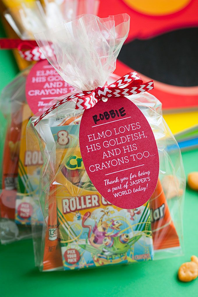 Sesame Street Themed 2nd Birthday Party Favors