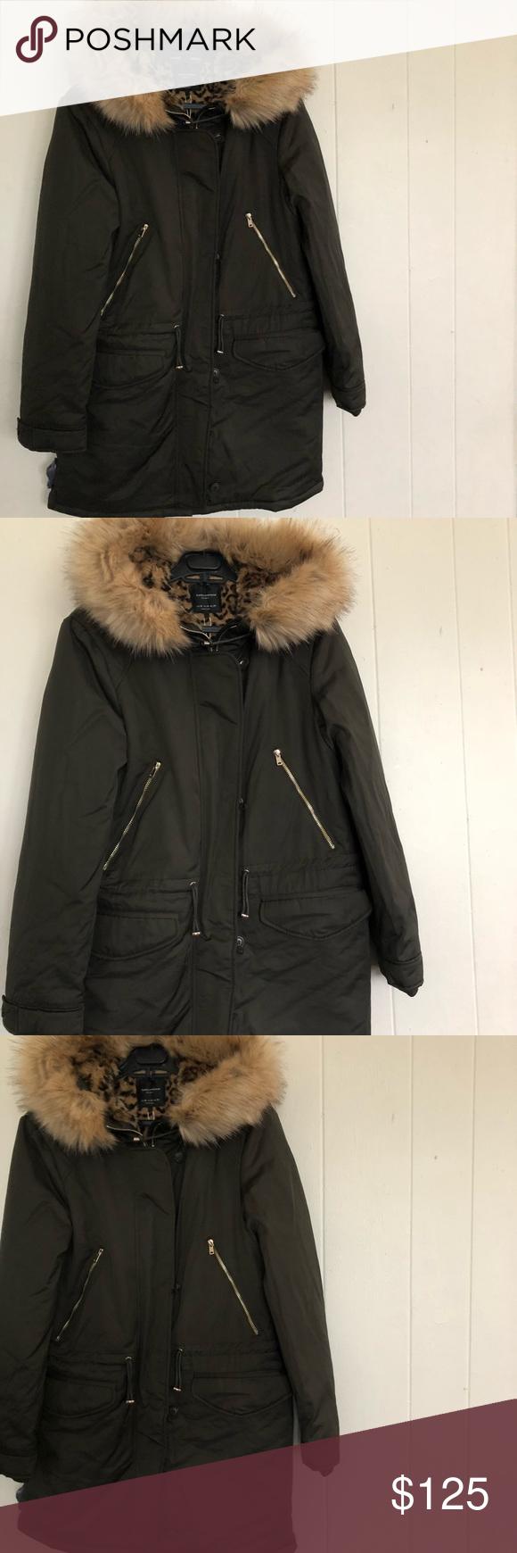 Zara Trafaluc Winter Coat Sz M Winter Coat Zara Coats For Women [ 1740 x 580 Pixel ]