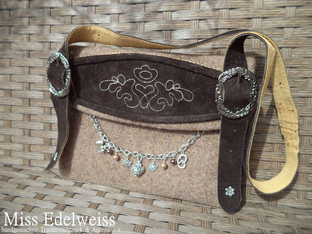 Details Zu Schone Leder Trachtentasche Zum Dirndl Lederhose Style