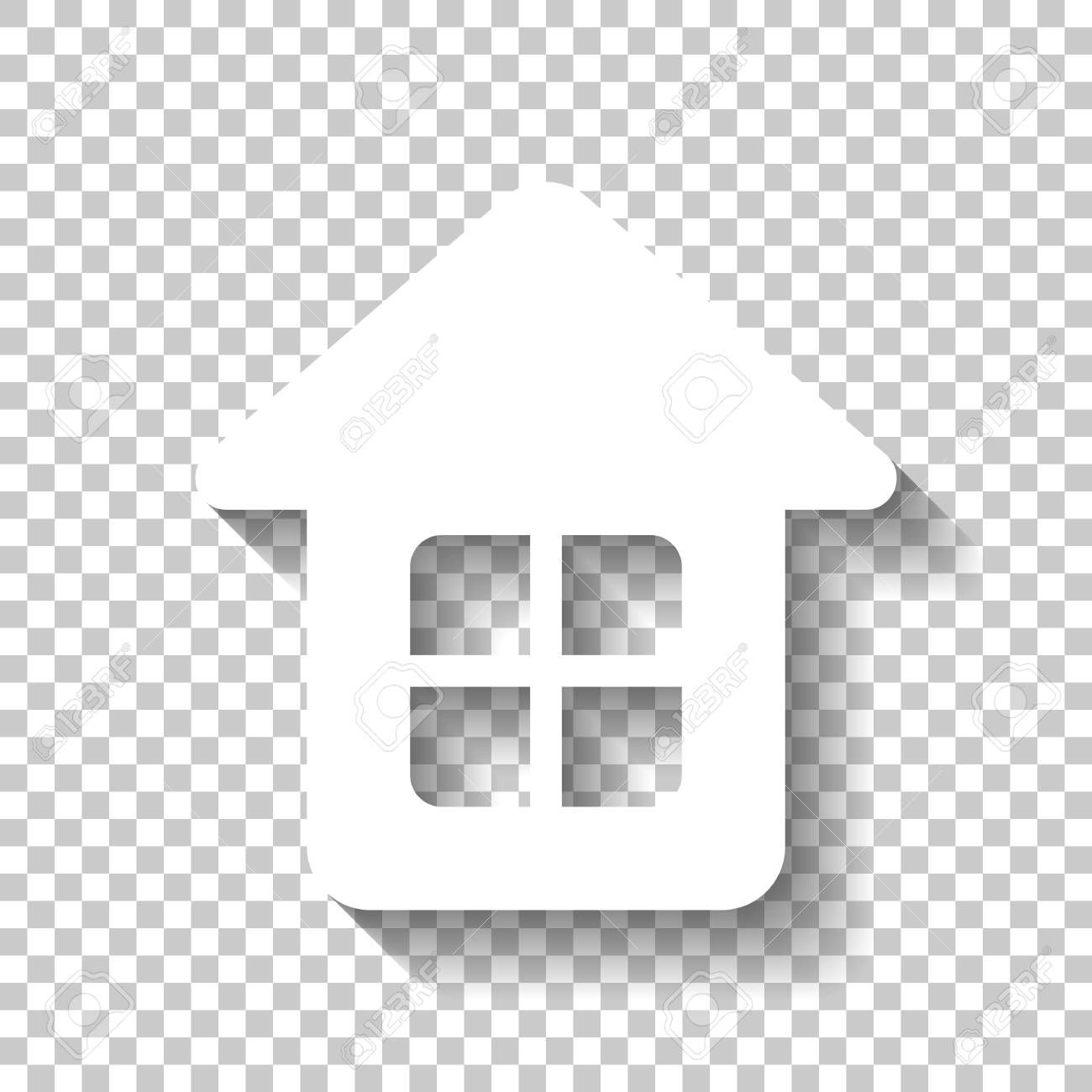 Simple House Icon White Icon With Shadow On Transparent Background Affiliate Icon House Simple White Home Icon Simple House Transparent Background