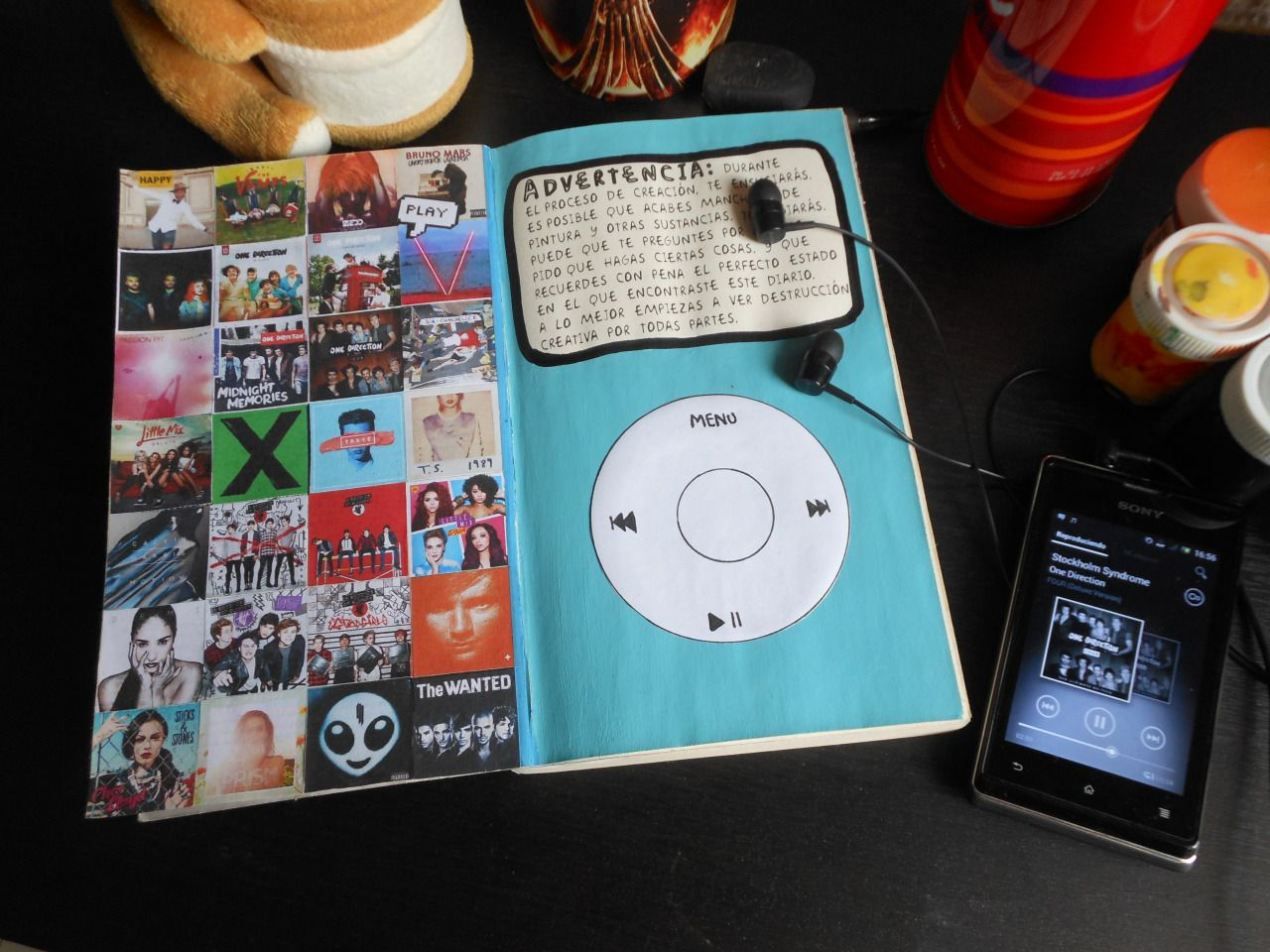 One direction scrapbook ideas - Music Themed Page From A Wreck This Journal I Love It