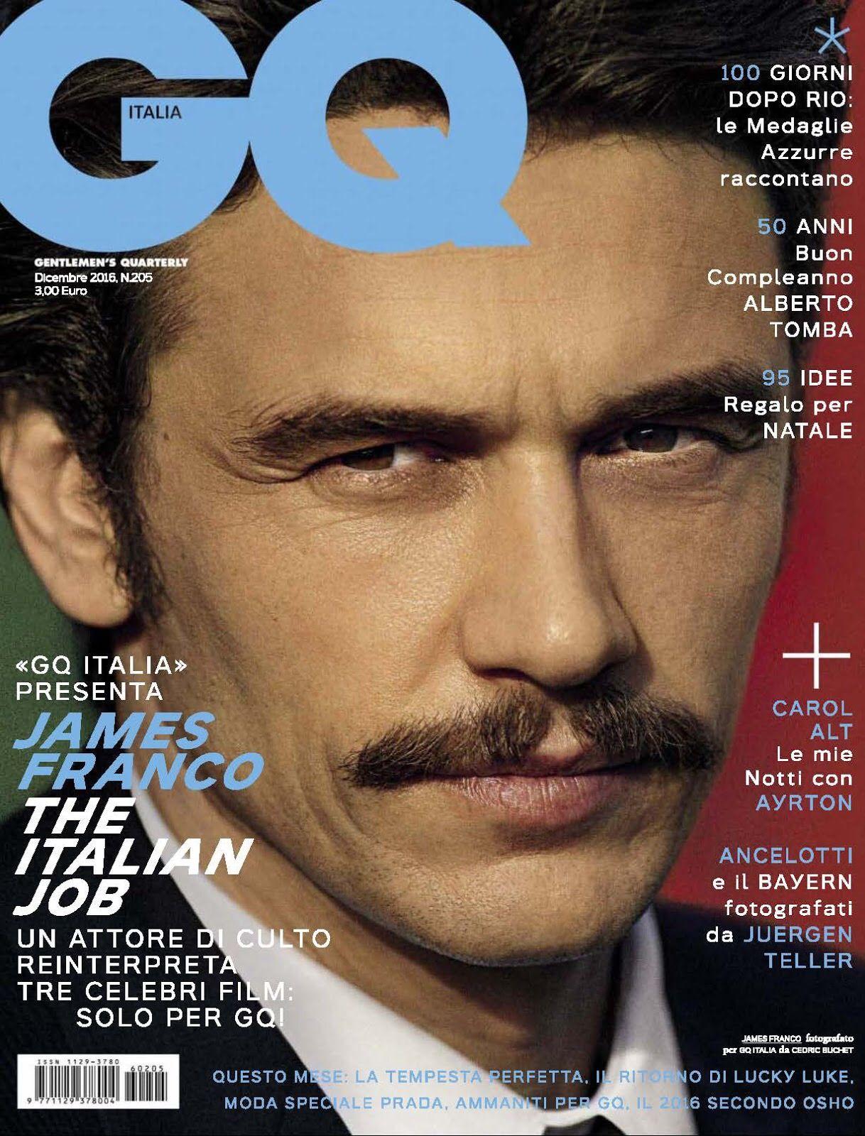 GQ表紙のジェームズ・フランコ