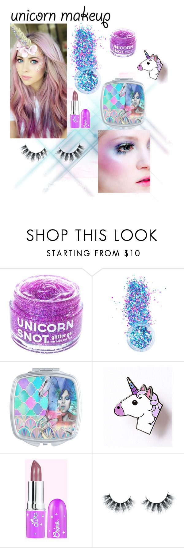 """""""🦄 4life"""" by gabriella-sophia ❤ liked on Polyvore featuring beauty, FCTRY, In Your Dreams and Unicorn Lashes"""