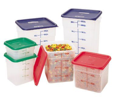 Cambro 12sfspp190 Square Storage Container 12 Qt Camsquares Food Storage Container Is Made Of Polypropylene Cambro Food Storage Containers Food Containers