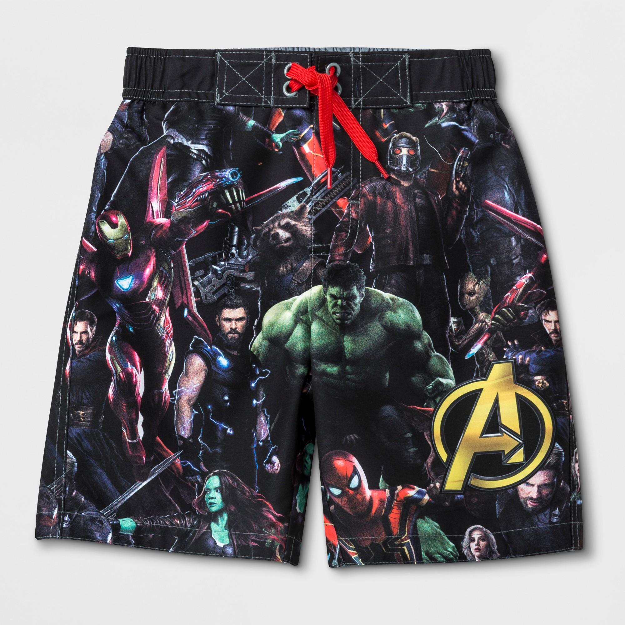 86eda3e75afad Boys' Avengers Swim Trunks 5/6, Multicolored | Products | Swim ...
