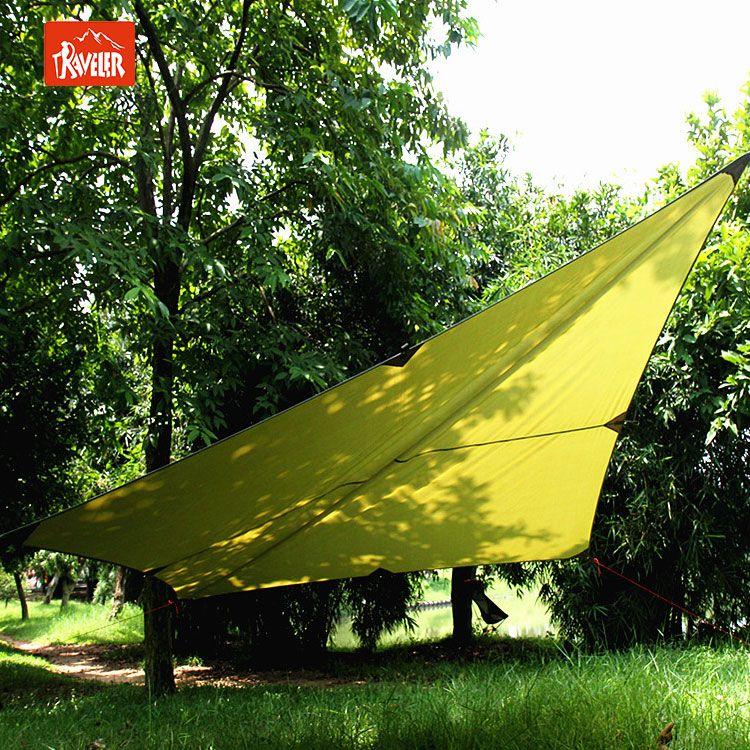 Traveler Portable waterproof hammock rain fly tent tarp & Traveler Portable waterproof hammock rain fly tent tarp ...