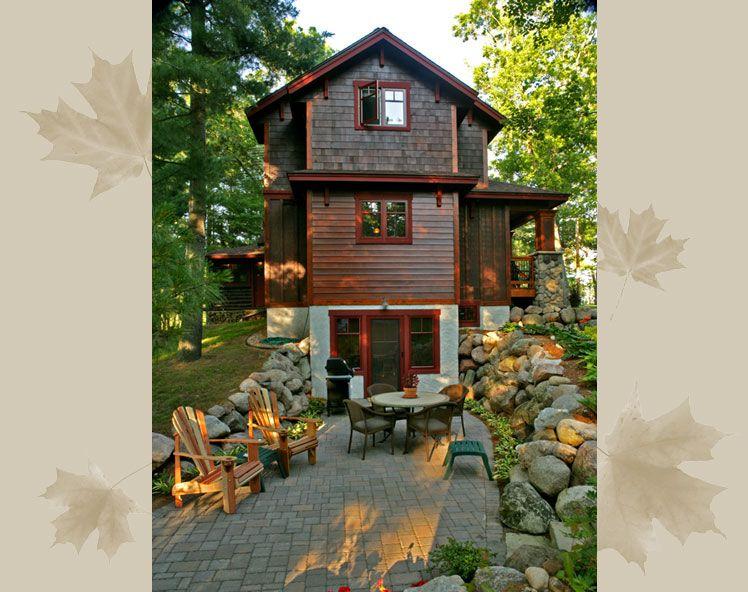 narrow cabin, mountain house | Rustic lake houses, House ...