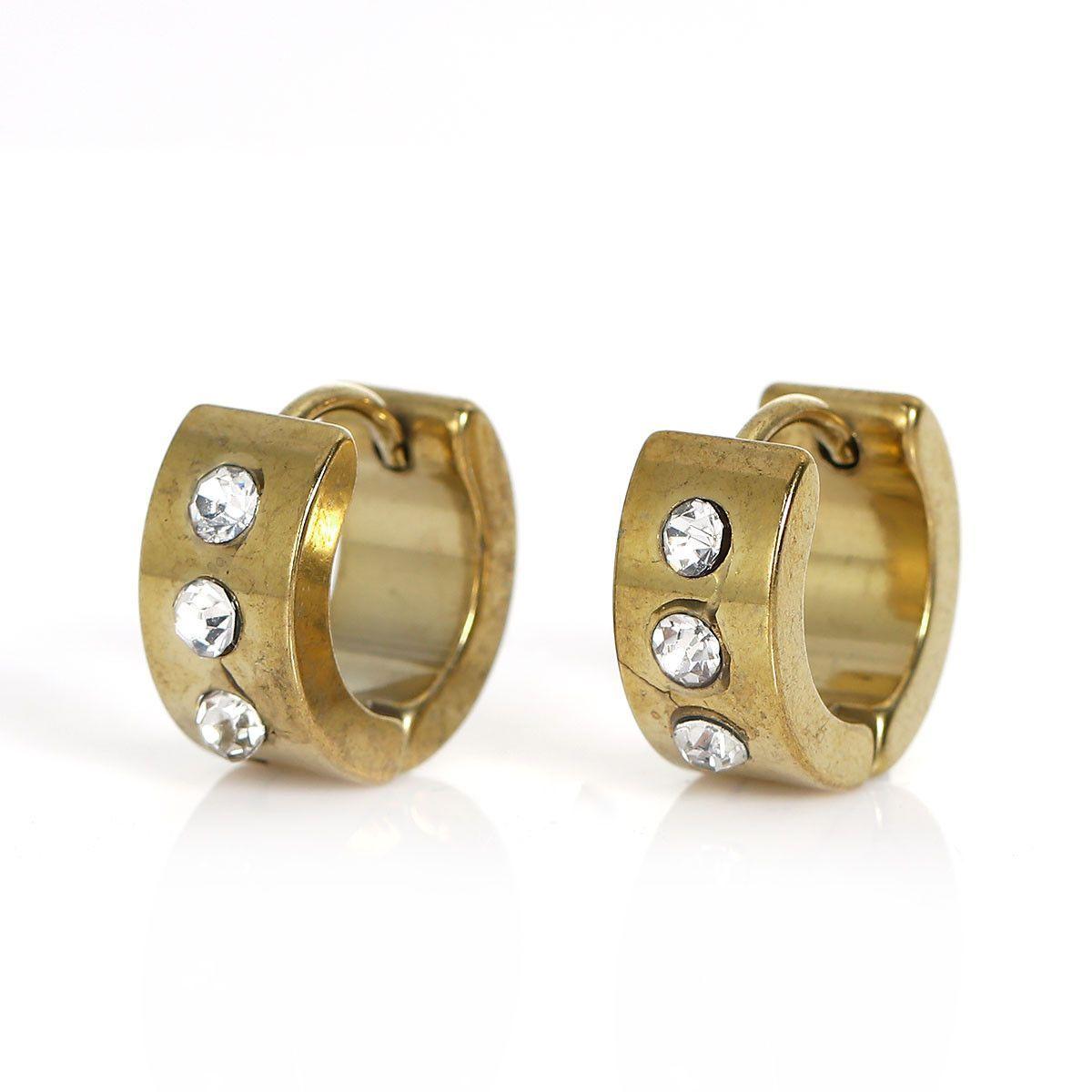 Piercing ideas men  Sexy Sparkles Titanium Steel Mens Womens Hoop Earrings Piercings