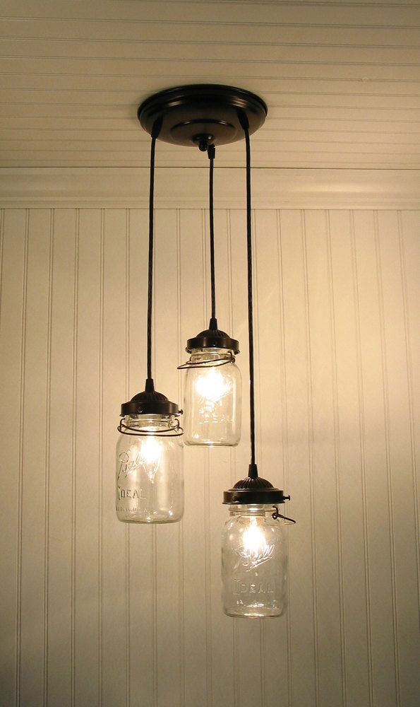 Vintage canning jar chandelier trio light flush mount ceiling vintage canning jar chandelier trio light flush mount ceiling lighting fixture fan farmhouse pendant track ktchen bathroom by lampgoods jar chandelier aloadofball Gallery