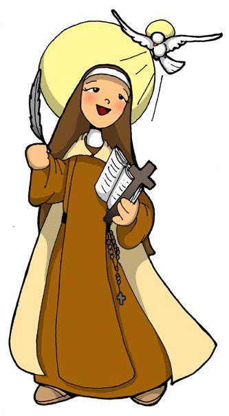 Resultado de imagen de santa teresita del niño jesus CARICATURAS PARA NIÑOS