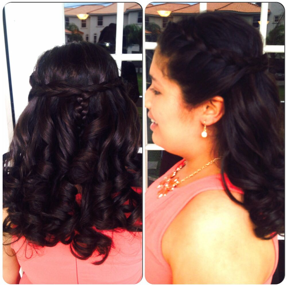 Wedding Hairstyles For Jr Bridesmaids: Jr Bridesmaid Braid And Curls (With Images)