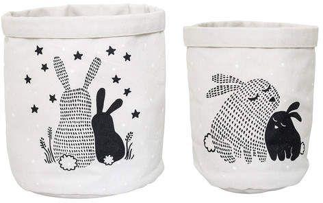 Bloomingville Cotton 2 Piece Basket Set