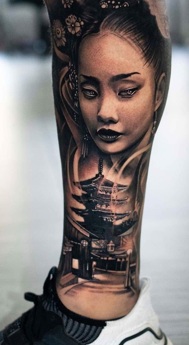 Tatuagem De Gueixa Inspiracoes Lindas Para A Sua Tattoo In 2020 Japanese Girl Tattoo Best Sleeve Tattoos Warrior Tattoos