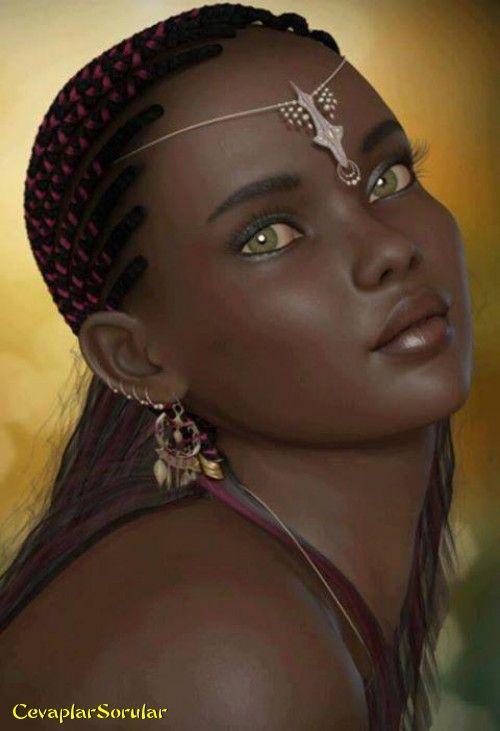 Esmer Guzeli Dunyanin En Guzel Siyah Tenli Bayani Portre