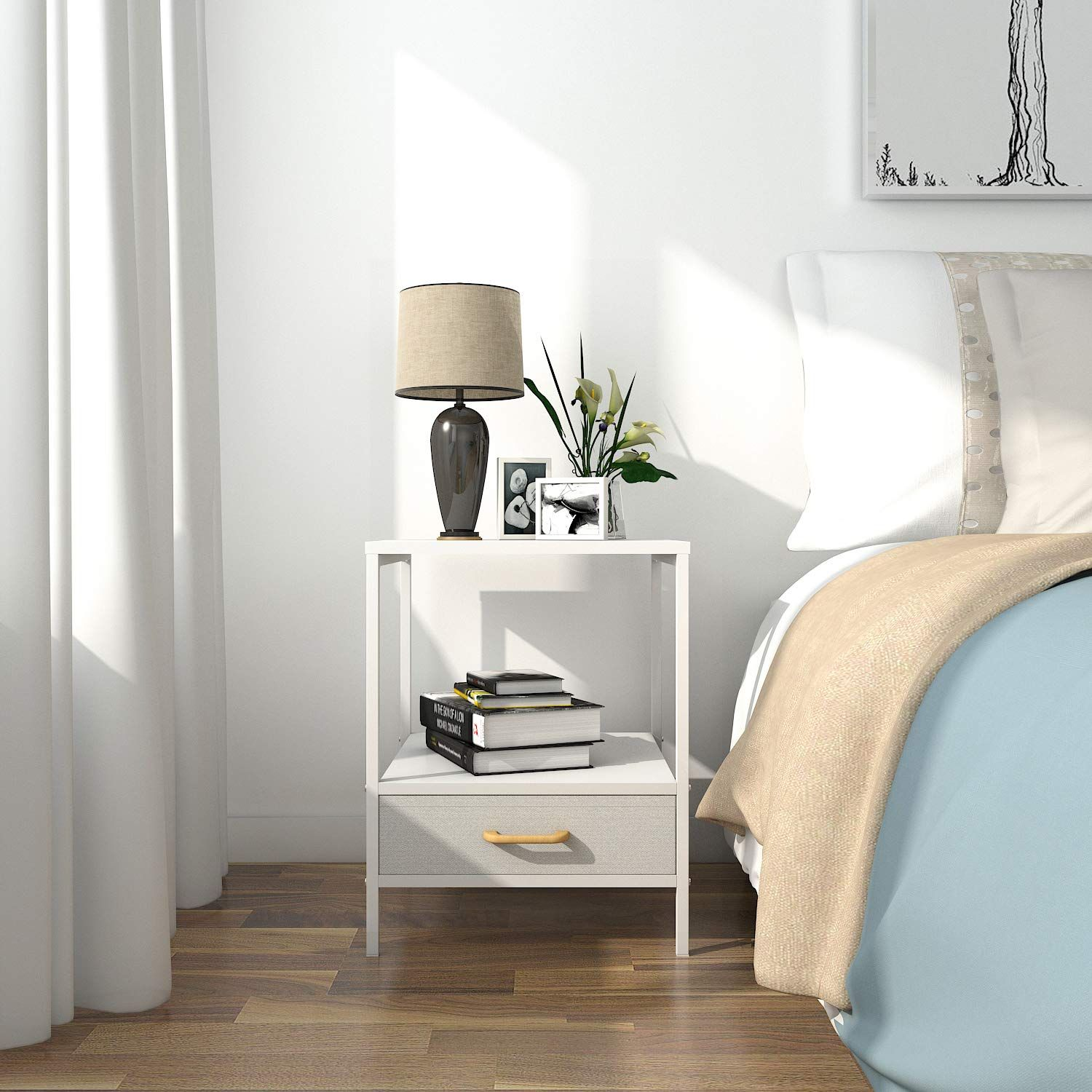 Lifewit Small Nightstand Bedside Table End Table with