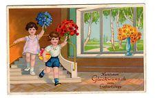 AK Kinder Herzlichen Glückwunsch zum Geburtstag gel.1937