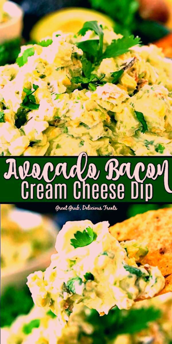 Appetizerrecipes Avocado Bacon Cream Cheese Dip is the best avocado dip recipe that is so flavorful