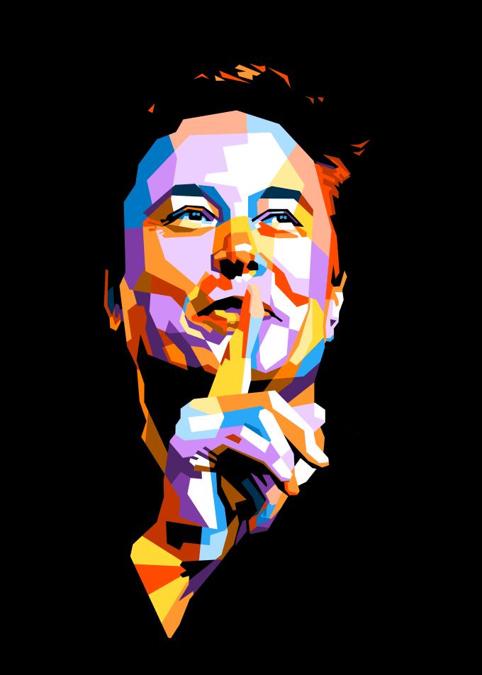 Elon Musk Poster Print By Beny Rahmat Displate Elon Musk Musk Elon