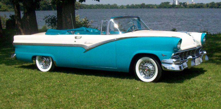 1956 Ford Sunliner Convertible Classic Cars Old Fords Ford