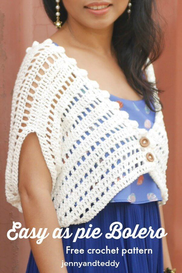 Easy As Pie Bolero Free Crochet Pattern Beginner Friendly By