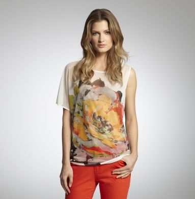 """Lucky April 2012 """"get the look"""" feature has a sleeveless version of this KC top."""