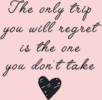 Photo of 'Travel quotes – The only trip you will regret' Photographic Print by Quotation  Park