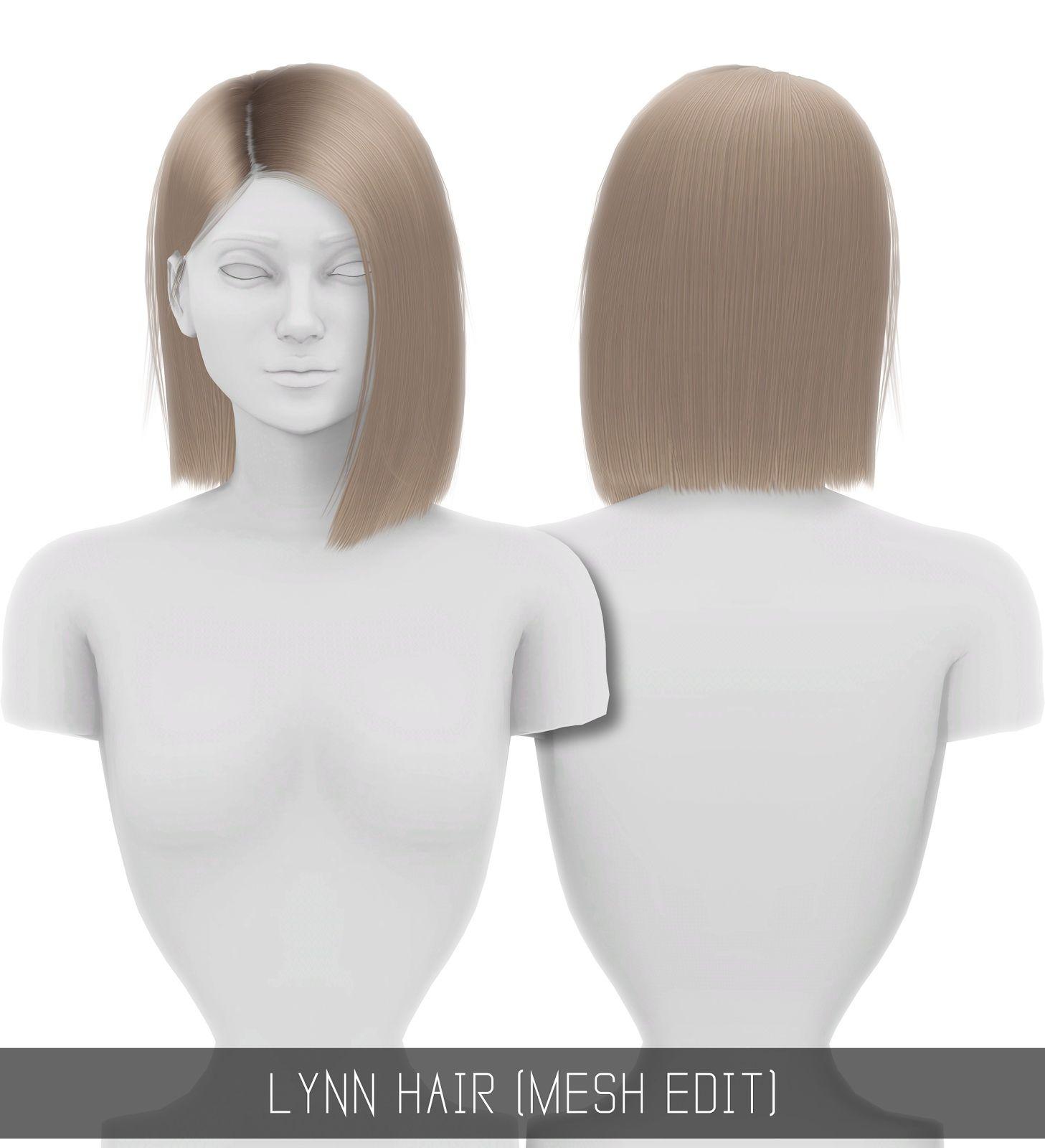 Simpliciaty Lynn hair Sims 4 Hairs by Sims Hairs