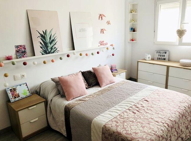 Cabecero low cost habitaci n femenina estilo n rdico v a for Arredamento nordico low cost