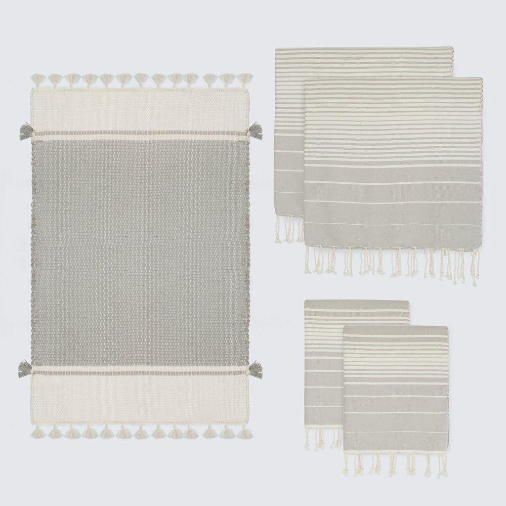 Grey Bathroom Rug And Towel Sets Striped Towels The Citizenry Bathroomrugs Grey Bathrooms Bathroom Rugs Grey Bathroom Rugs