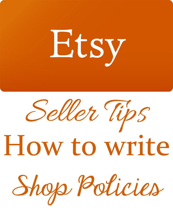 Etsy Sellers tips u2013 How to write Etsy Shop Policies Etsy - refund policy