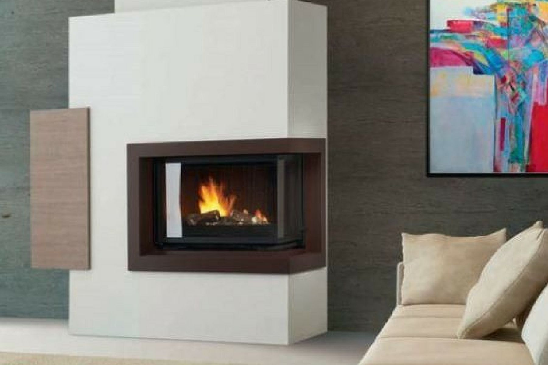 Christian Cheminees Cheminees Philippe Radiante 747 2v Sr Fireplace Cheminee
