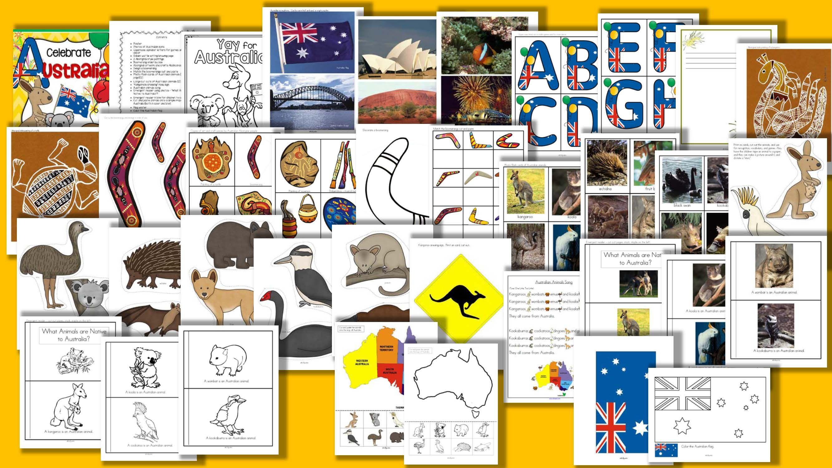 Australia Centers Activities And Printables For Preschool