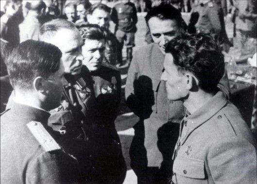 Генерал Жданов и Пеко Дапчевић