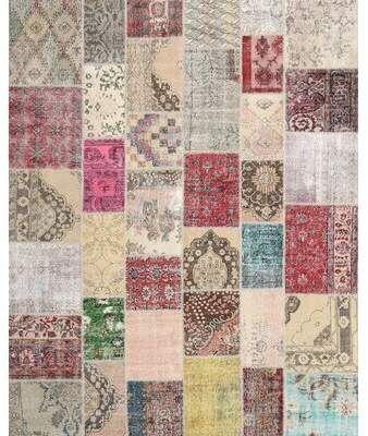 East Urban Home Zeitgenössischer Teppich in Grau / Pink / Beige | Wegmesse
