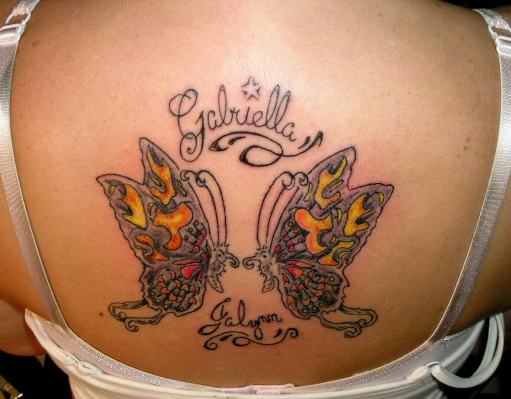 Butterfly tattoos with names butterfly tattoo name