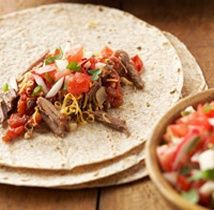Crock Pot Chipotle Burritos (8 Points) #WeightWatchers #HealthyRecipes #Burritos