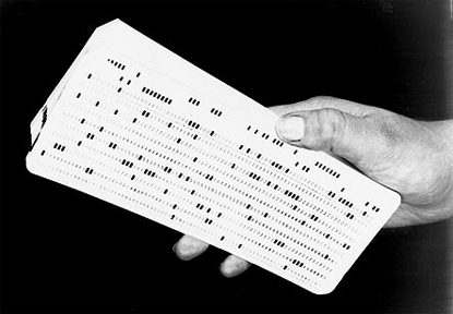 Image result for early computer punch card