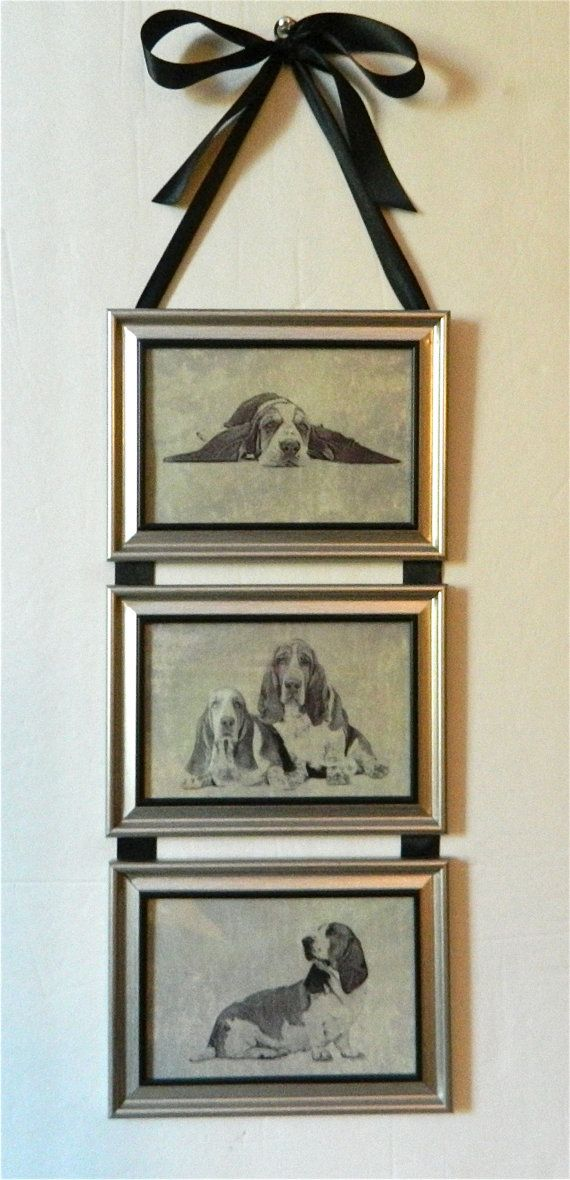 Basset Hound Dog Picture Frame Collage Wall Hanging Art   Pinterest