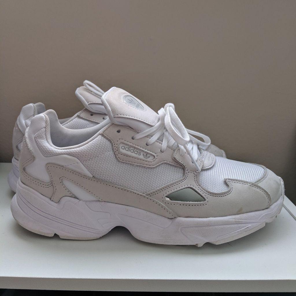 White/beige/tan Adidas Falcon sneakers | Adidas shoes women ...