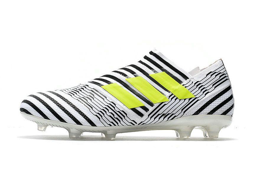 c1b0d2d750ee Adidas Nemeziz 17+ 360 Agility FG White Black Yellow How To Buy Sneaker