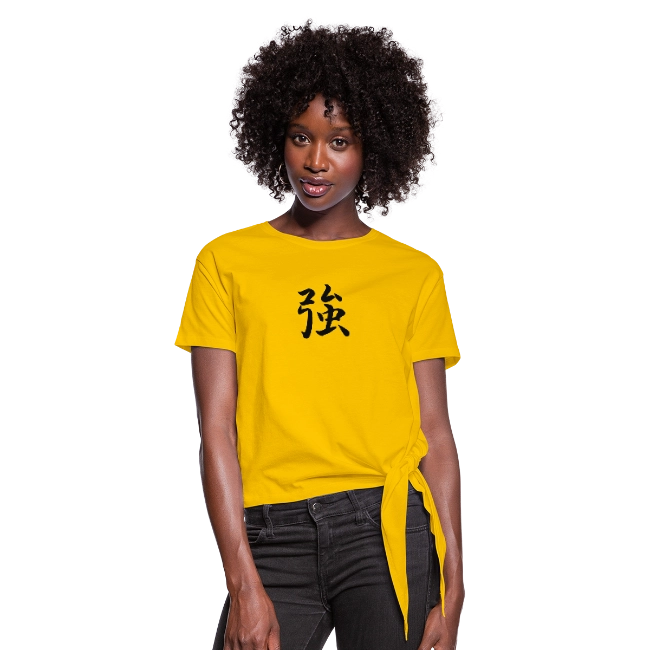 Dem Good Vibes Threads Strength Womens Knotted TShirt