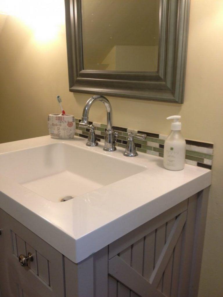 Tile Backsplash Bathroom Has Merry