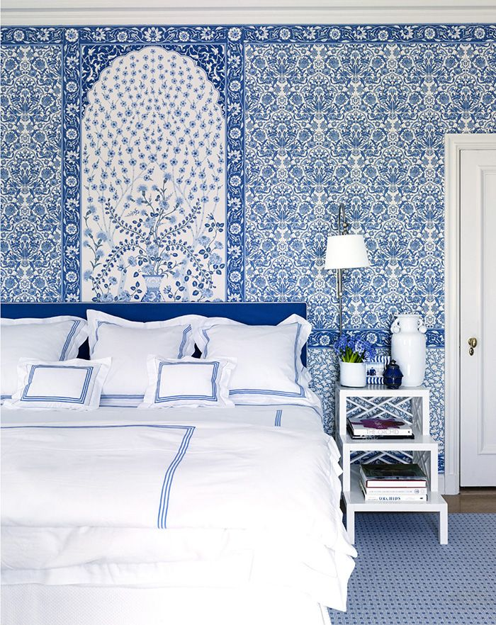 Best Blue And White Monday Bedroom Wallpaper Beach Home 400 x 300