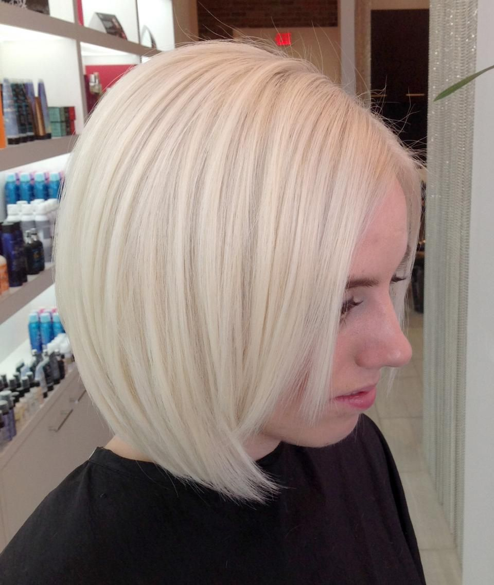 transformation: grown out haircolor (3+ inches) to true platinum