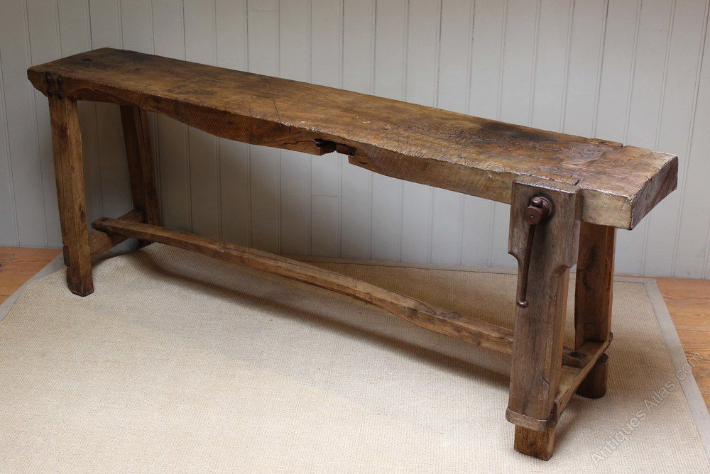 French Chestnut Workbench - Antiques Atlas