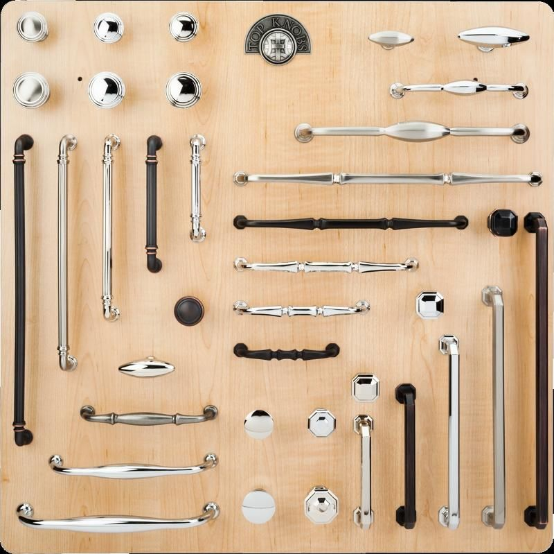 Image Of Top Knobs Chareau Collection Display Board.