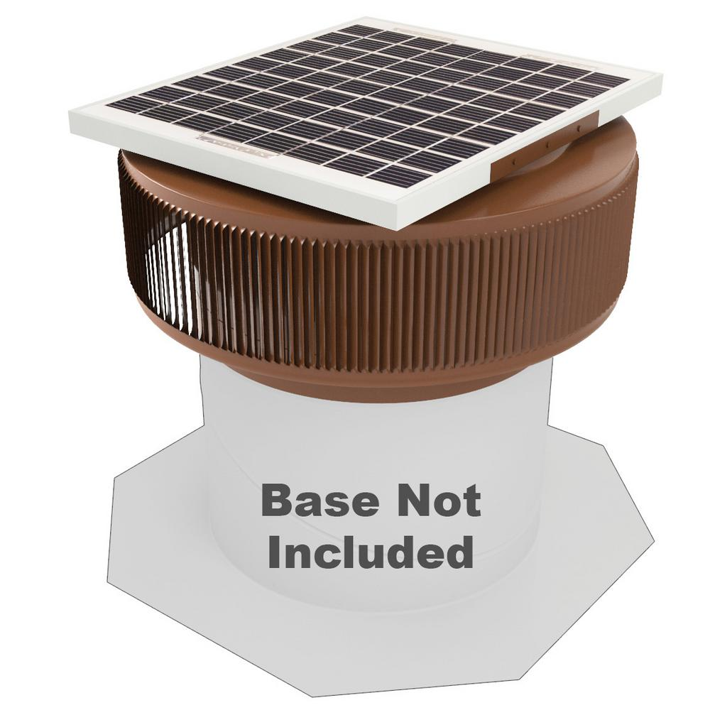 Active Ventilation 740 Cfm Brown Powder Coated 10 Watt Solar Powered 12 In Dia Retrofit Attic Roof Fan Asf 12 Rf Br Solar Fan Solar Attic Fan Solar Powered Attic Fan