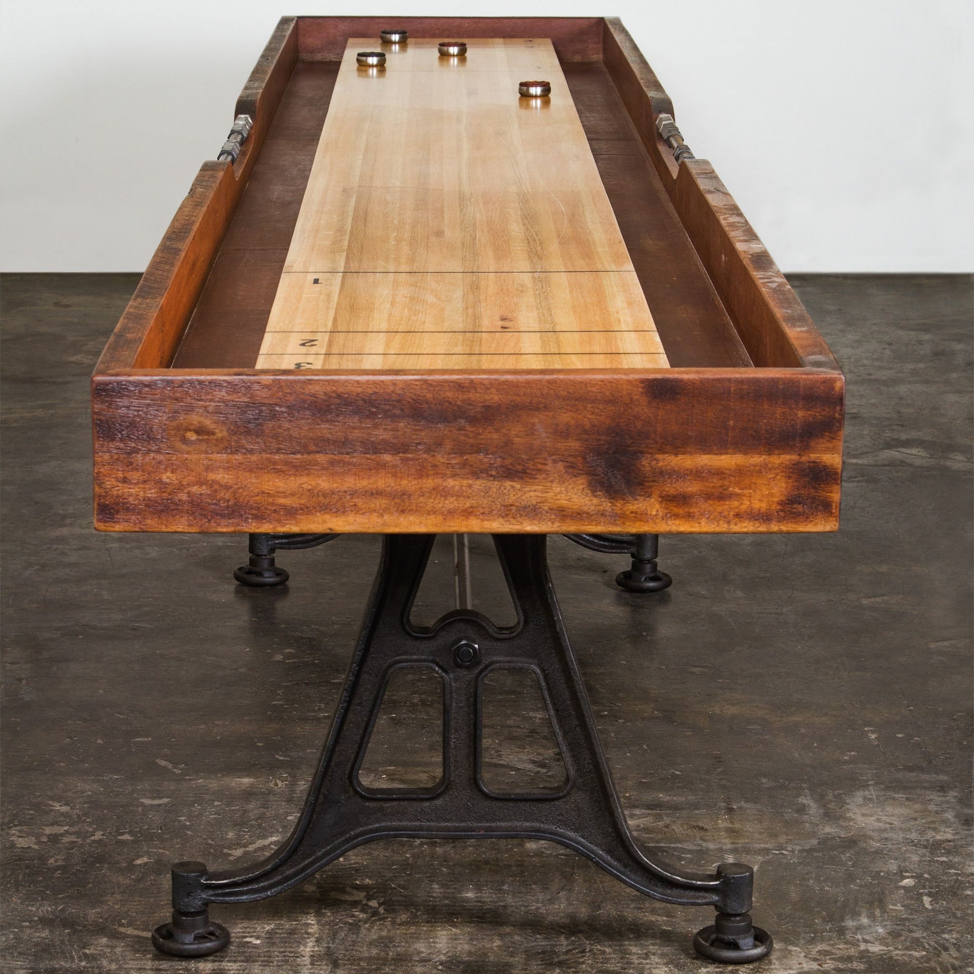District Eight 12' Shuffleboard Table Shuffleboard table