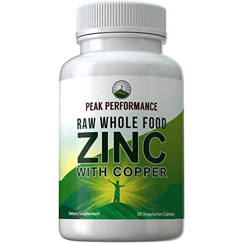 Raw Whole Food Zinc Supplement Copper By Peak Performance Two Essential Minerals For Antioxidant And Immune Support 25 Organic Fruit And Vegetable Ingredie In 2020 Organic Fruits And Vegetables Organic Fruit Zinc Supplements